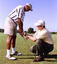 Instructor with Golfer - Golfing Tips